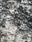 Rock Climbing Photo: Cesar Melendez working on ¨The Matrix¨ at Gunko ...