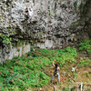 Belaying at El Panal of Boquete
