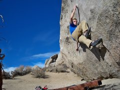 Rock Climbing Photo: Tucker on King Tut shortly before the send