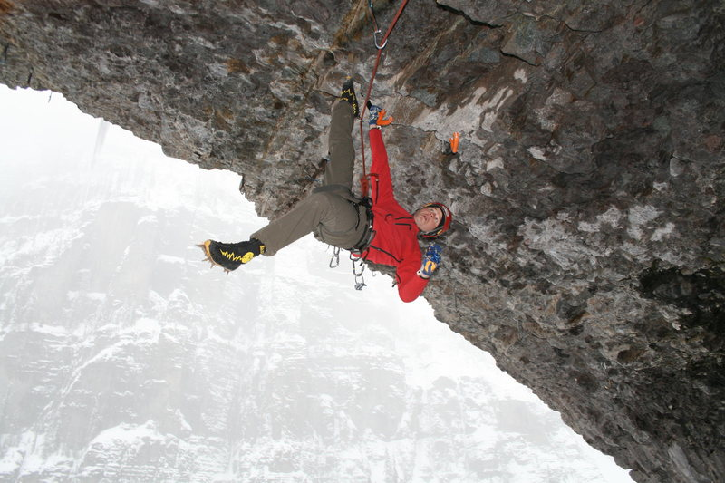 Rock Climbing Photo: Hangin' out on Trogladyte. Ouray, CO
