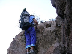 Rock Climbing Photo: It is a long way from The Grotto over to the Kamik...