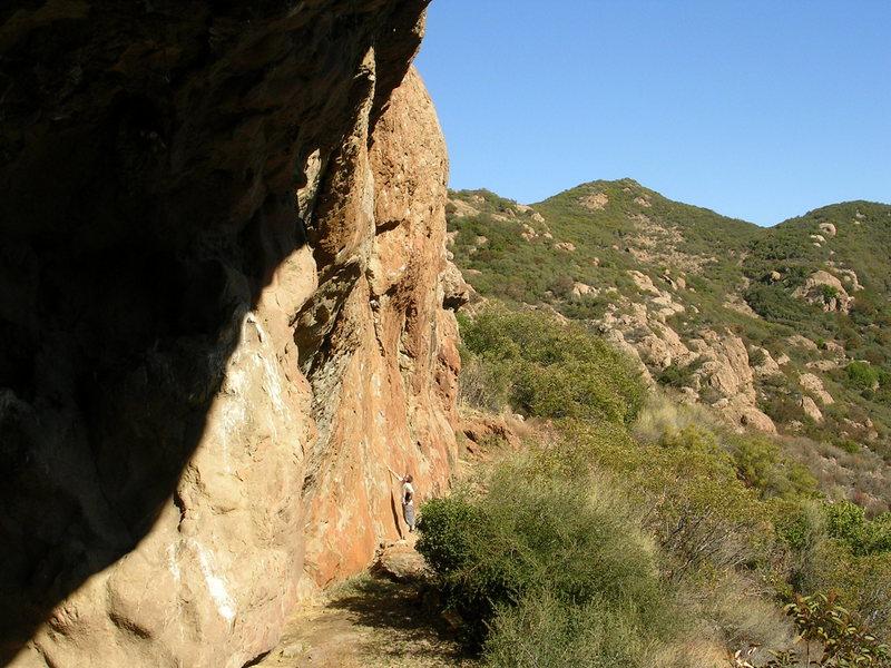 Rock Climbing Photo: After the ladder, go through a narrow tunnel to en...