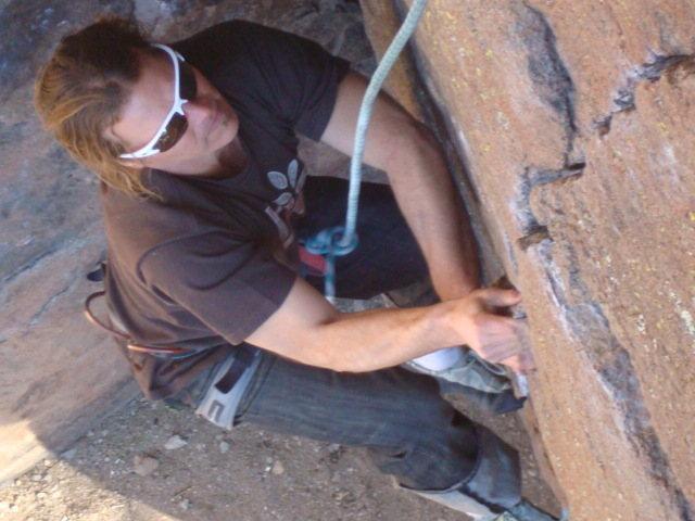 Rock Climbing Photo: Doc on climb