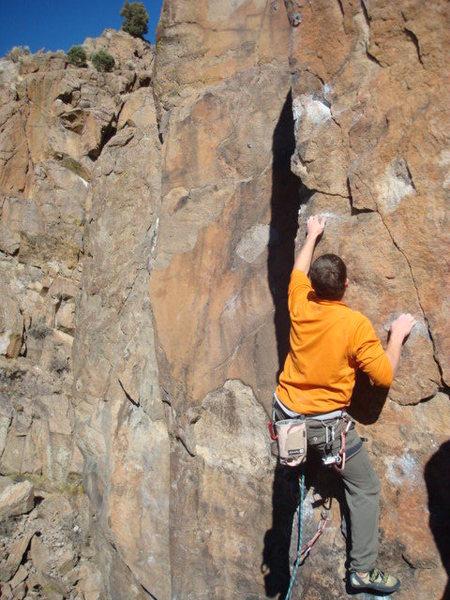 Rock Climbing Photo: JD leading