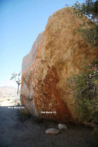 Rock Climbing Photo: Indian Wave Boulder Topo