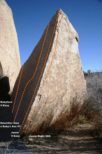 Rock Climbing Photo: Shard Boulder Topo