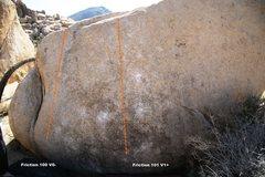 Rock Climbing Photo: Friction 100 / 101 Topo