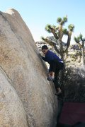 Rock Climbing Photo: Making the tricky moves at the start of Friction 1...