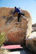 Rock Climbing Photo: Gaining the mantelshelf.
