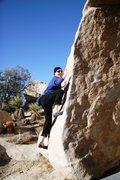 Rock Climbing Photo: Balancing up the start of Fat Lip Left Hand, V0-