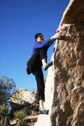Rock Climbing Photo: Making the easier finishing moves of Fat Lip Left ...