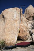 Rock Climbing Photo: Native Arete Topo