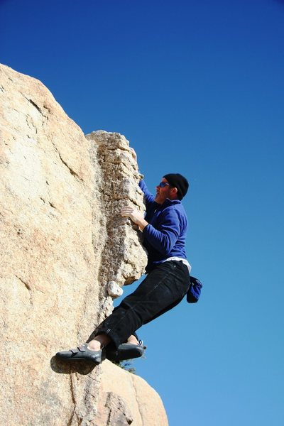 Rock Climbing Photo: Climbing up the Native Arete, V0
