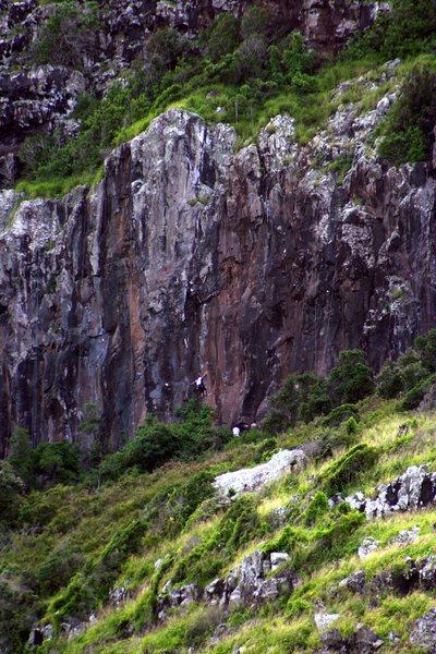 Climbers on the Moke Wall