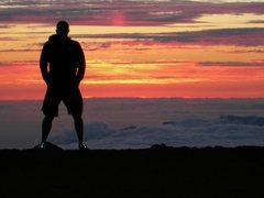 Rock Climbing Photo: Watching the sun set on top of Mt. Haleakala in Ma...