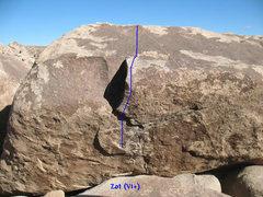 Rock Climbing Photo: Zot (V1+), Joshua Tree.