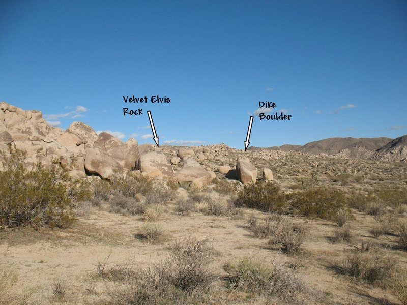 Rock Climbing Photo: Looking East from the road to Velvet Elvis Rock an...