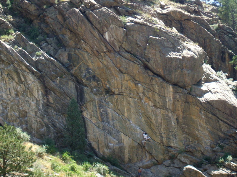 Anarchitect on Anarchy Wall, Clear Creek Canyon.