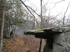 Rock Climbing Photo: cool roof mantle problems in the foreground. In th...