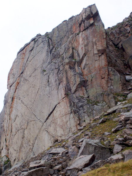 Lincoln Buttress with some awesome trad lines.