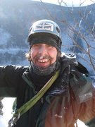 Rock Climbing Photo: Dad after the rock finish of shoestring gully on m...