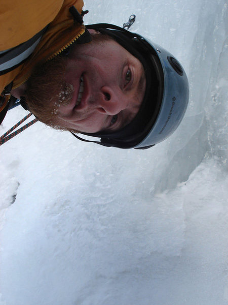 Me at a cold belay on shoestring...