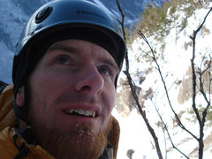 Rock Climbing Photo: a very cold me on mt webster...