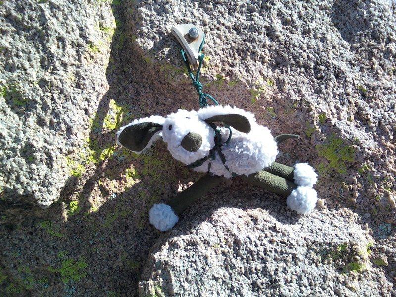 Rock Climbing Photo: Ewe wouldn't think ewe would run into a solo climb...