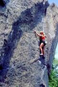 Rock Climbing Photo: Nancy Prichard on Lost Arrow, Aid Box. photo Bob H...
