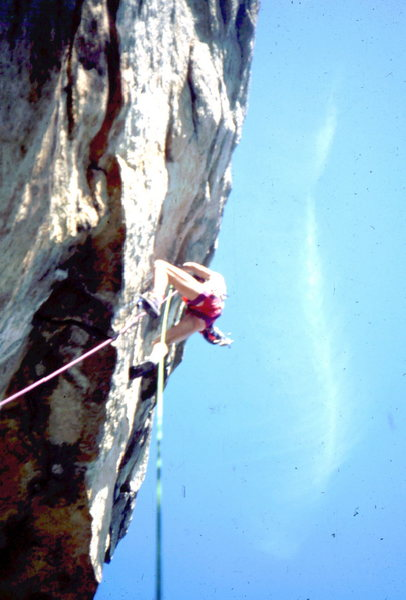 An early lead of Super Crack of the Gunks. Photo: Bob Horan Collection.