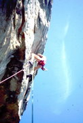 Rock Climbing Photo: An early lead of Super Crack of the Gunks. Photo: ...