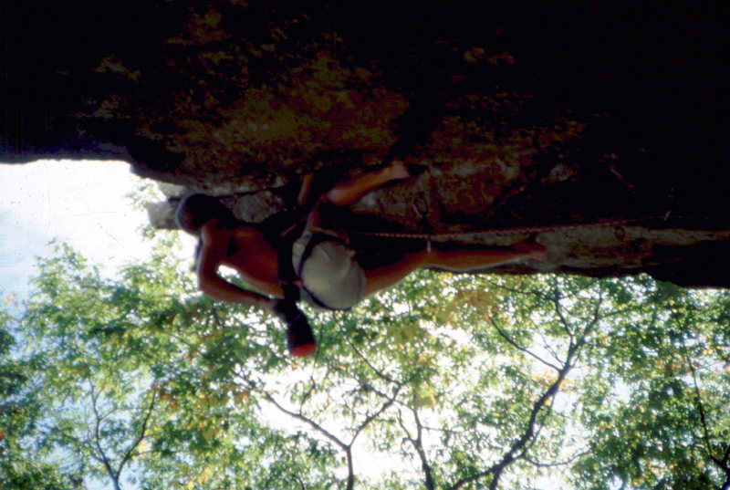 Rock Climbing Photo: Skip Guerin leading Kansas City, Gunks. photo: Bob...