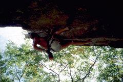 Rock Climbing Photo: Skip Guerin leading Kansas City, Gunks. photo: Bob...