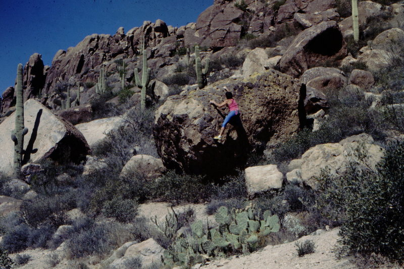 Bouldering in the Superstitions.