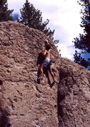 Rock Climbing Photo: Volcanic pocket bouldering at Deadman's Summit. ph...