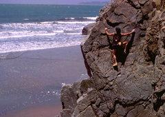 Rock Climbing Photo: Bouldering at Mickey's Beach, photo: Bob Horan Col...