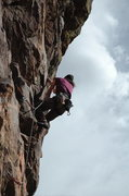 Rock Climbing Photo: Approaching the current position of bolt #3 during...