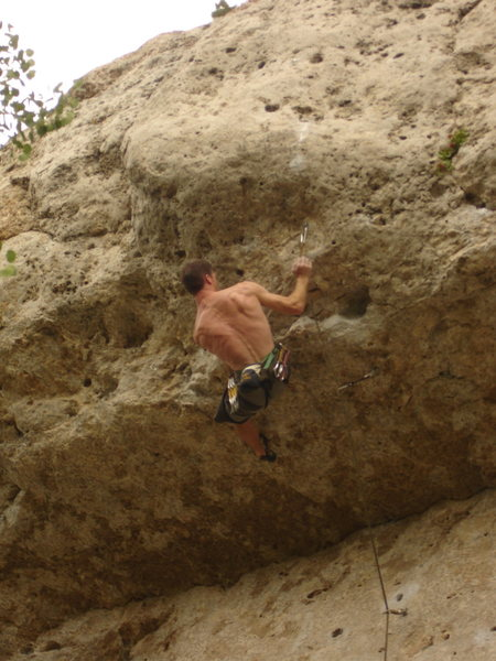 Trying to pull the crux!