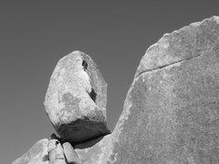 Rock Climbing Photo: Chris solos SW corner