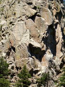 Rock Climbing Photo: Looking down on Hands of Destiny's three head wall...
