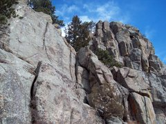 Rock Climbing Photo: Kids Line can be seen to the right of Jessica's Ro...