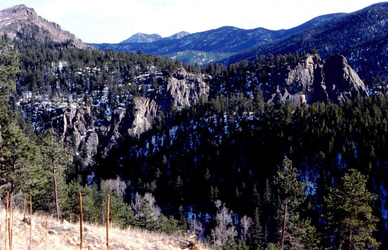Rock Climbing Photo: Upper Dream Canyon from the west. Photo: Bob Horan...