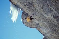 Rock Climbing Photo: Ryan Nelson nearing the finish at the bulge.