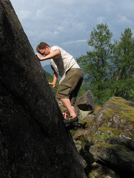 Rock Climbing Photo: Thin footwork on GTC