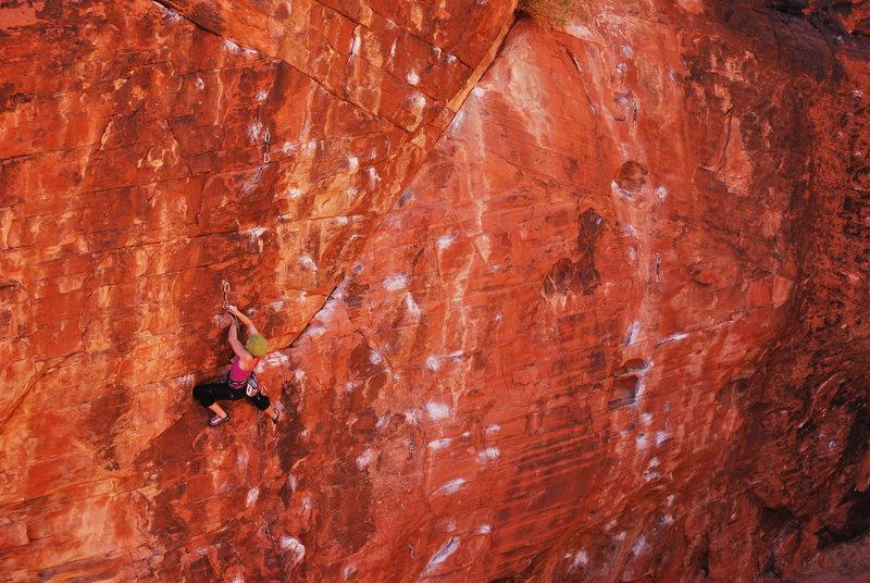 Rock Climbing Photo: Kayte Knower on Glitter Gulch