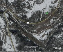 Rock Climbing Photo: Google Earth view.