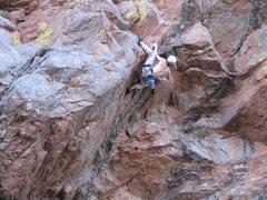 Rock Climbing Photo: Matt Gant onsites Aerial Anticipation 5.11c