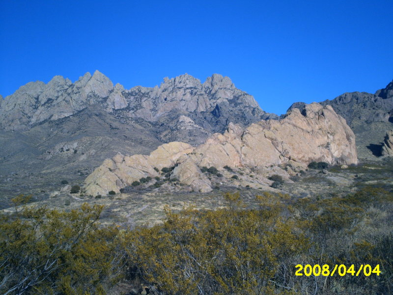 Rock Climbing Photo: La Cueva and the Organ Mts