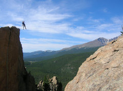 Rock Climbing Photo: Highline'in. The first step is a doosey.