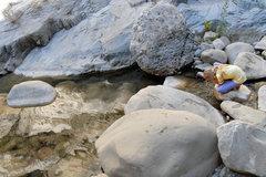 Rock Climbing Photo: Marina McKay soaking up the beauty in Wheeler Gorg...